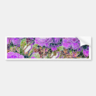 Purple Roses Abstract Pattern Bumper Sticker