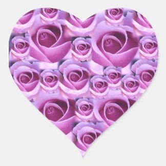 Purple Roses Design Sticker