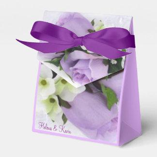 Purple Roses Favour Boxes