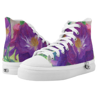 Purple Roses in the Shade Printed Shoes