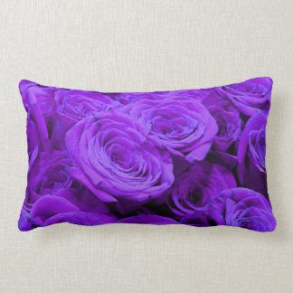 Purple Roses Lumbar Cushion