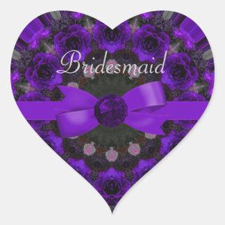 Purple Roses Mandala Wedding Sticker