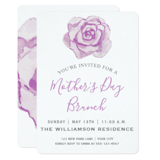 Purple Roses | Mother's Day Brunch Invitation