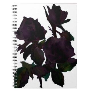 Purple roses notebooks