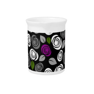 Purple roses pattern pitcher