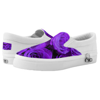 Purple Roses Printed Shoes