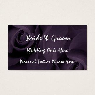 PURPLE Roses Reminder Insert - WEDDING Invitation