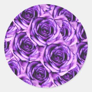 Purple Roses Sticker