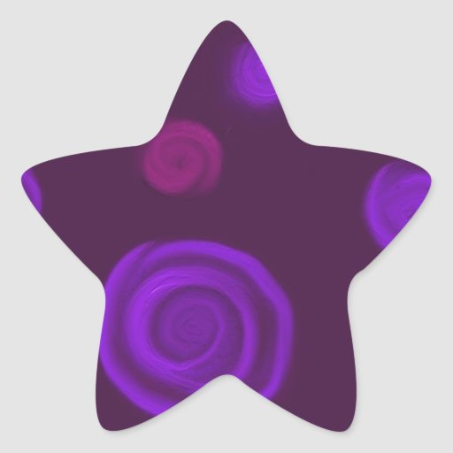 Purple roses star stickers