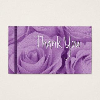 PURPLE Roses Thank You Wedding Card