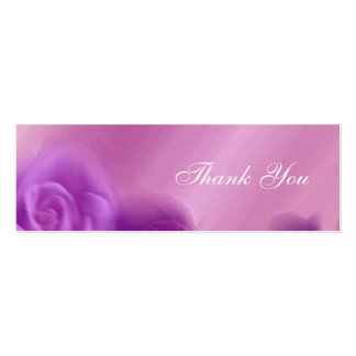 Purple Roses Thank You Wedding Card Business Card Template