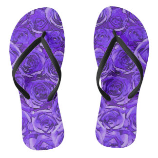 Purple Roses Thongs