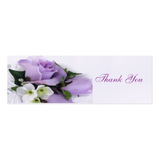 Purple Roses Wedding Favor Tag Business Card Templates