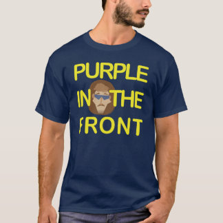 Purple Roundy Hockey Hair Tee
