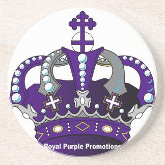 Purple Royal Crown Beverage Coaster