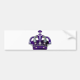 Purple Royal Crown Bumper Sticker