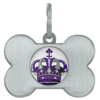 Purple Royal Crown Pet Tag