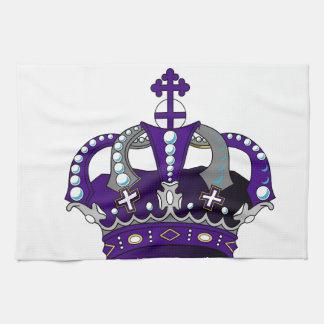 Purple Royal Crown Tea Towel