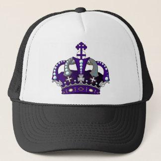 Purple Royal Crown Trucker Hat
