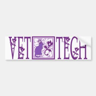 purple royal vet tech sticker