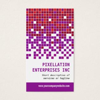 Purple Rust Pixel Modulation Business Card