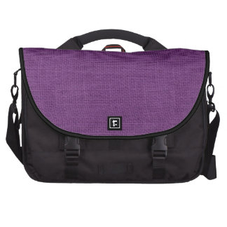Purple Rustic Burlap Texture Bags For Laptop