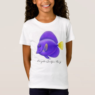 Purple Sailfin Tang Girls Baby Doll Top