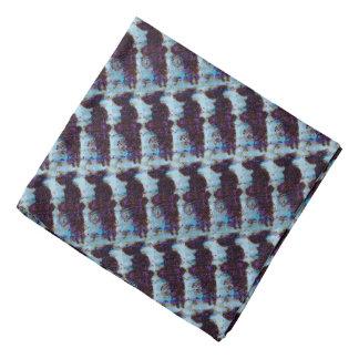 Purple Salmon Patterned Bandana