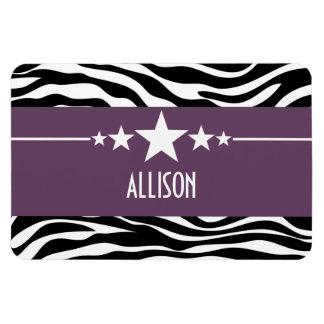 Purple Sassy Star Zebra Premium Magnet