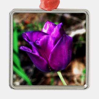Purple Satin Tulip Ornaments