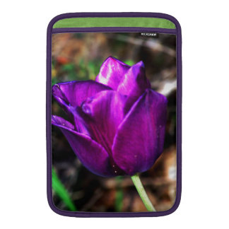 Purple Satin Tulip MacBook Sleeves