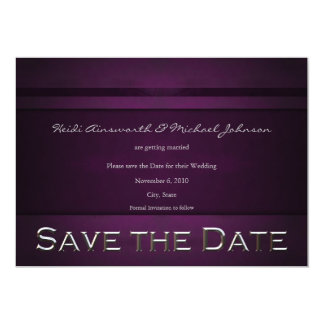 Purple Save the Date 13 Cm X 18 Cm Invitation Card