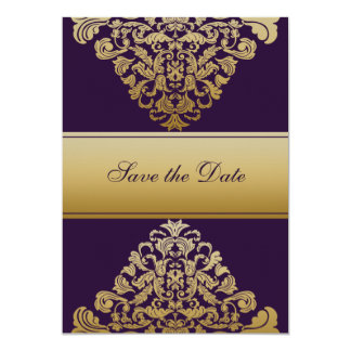 purple save the date announcement