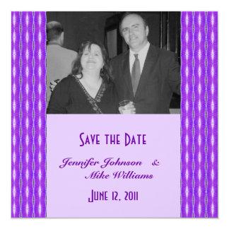 purple Save the Date 13 Cm X 13 Cm Square Invitation Card