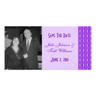 purple Save the Date Photo Card Template