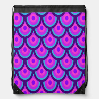 Purple Scale Pattern Drawstring Backpack
