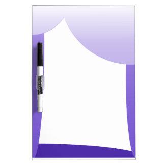 Purple scallops dry erase board