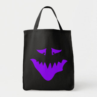 Purple Scary Face. Monster. Canvas Bag