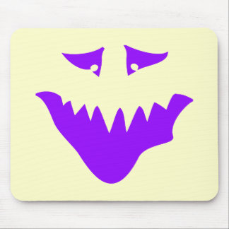 Purple Scary Face. Monster. Mousepads