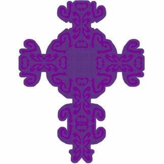 Purple Scrolls Cross Cutout Photo Cutouts