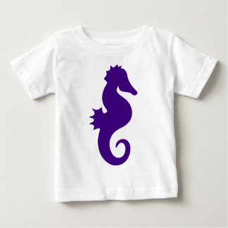 Purple Seahorse Baby T-Shirt