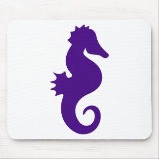 Purple Seahorse Mouse Pad