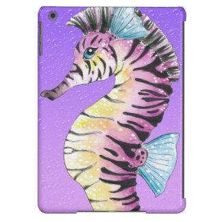 Purple Seahorse Zebra Case For iPad Air