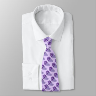 Purple Seashell Sea Shell Shells Beach Print Tie