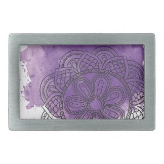 Purple sends it rectangular belt buckle