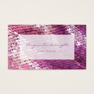 Purple Sequin Business Card Event Planner Glamour