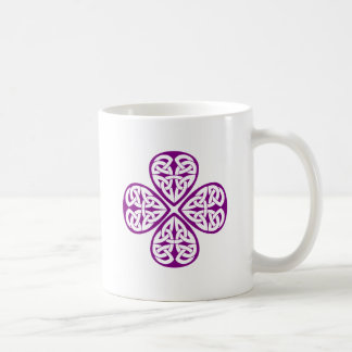 purple shamrock celtic knot coffee mug
