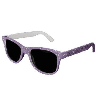 Purple Sheet Music & Silver Confetti Sunglasses