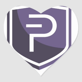 Purple Shield PIVX Heart Sticker
