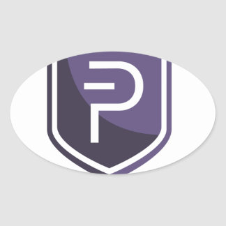 Purple Shield PIVX Oval Sticker